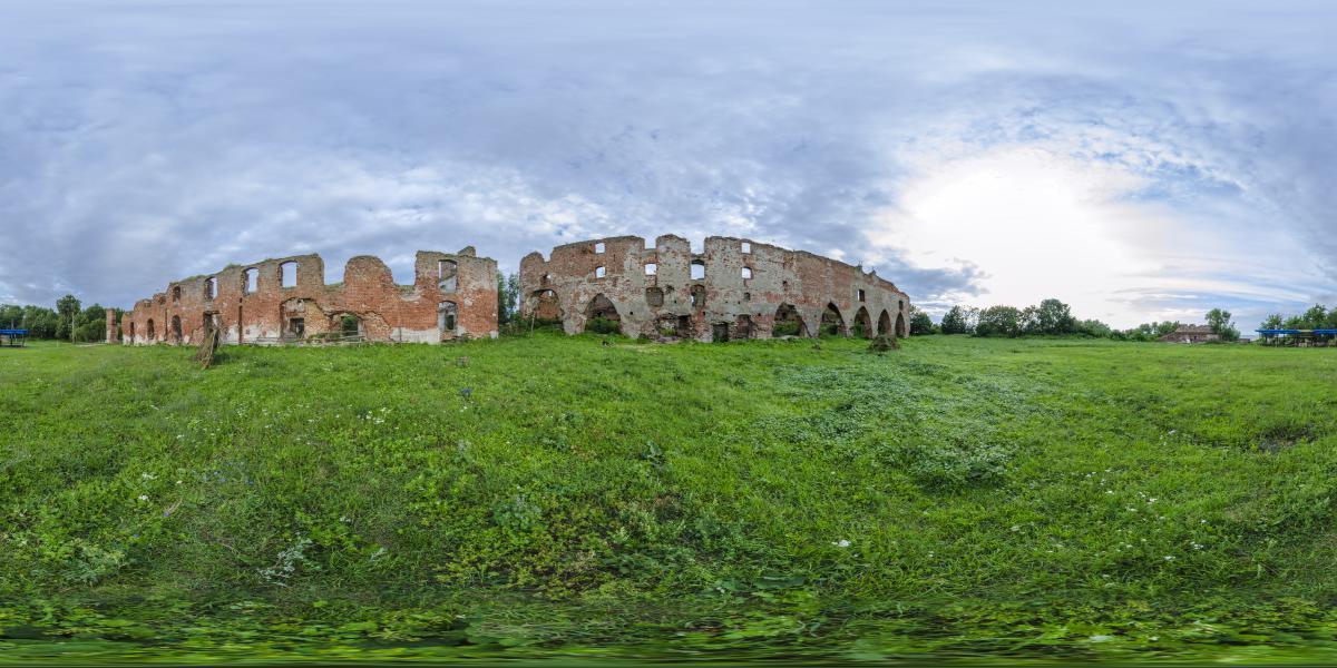 Руины замка Брандербург - Площадка перед замком