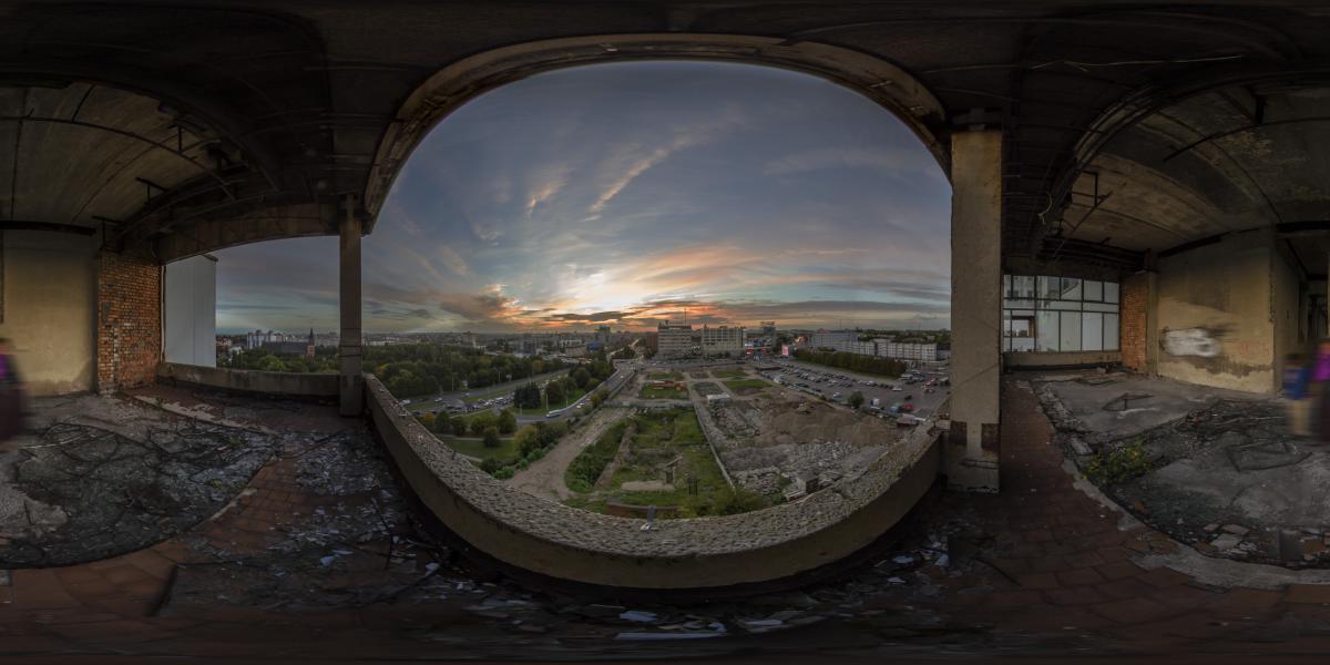 Дом советов - Вид с балкона 7-го этажа
