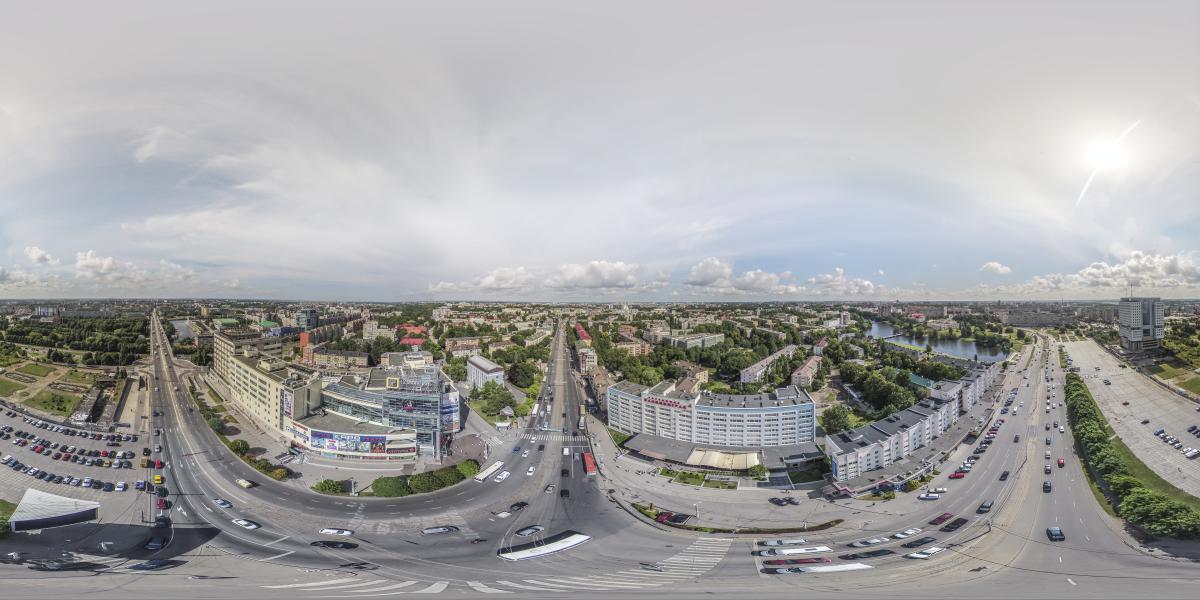 Дом советов - Вид от гостиницы Калининград