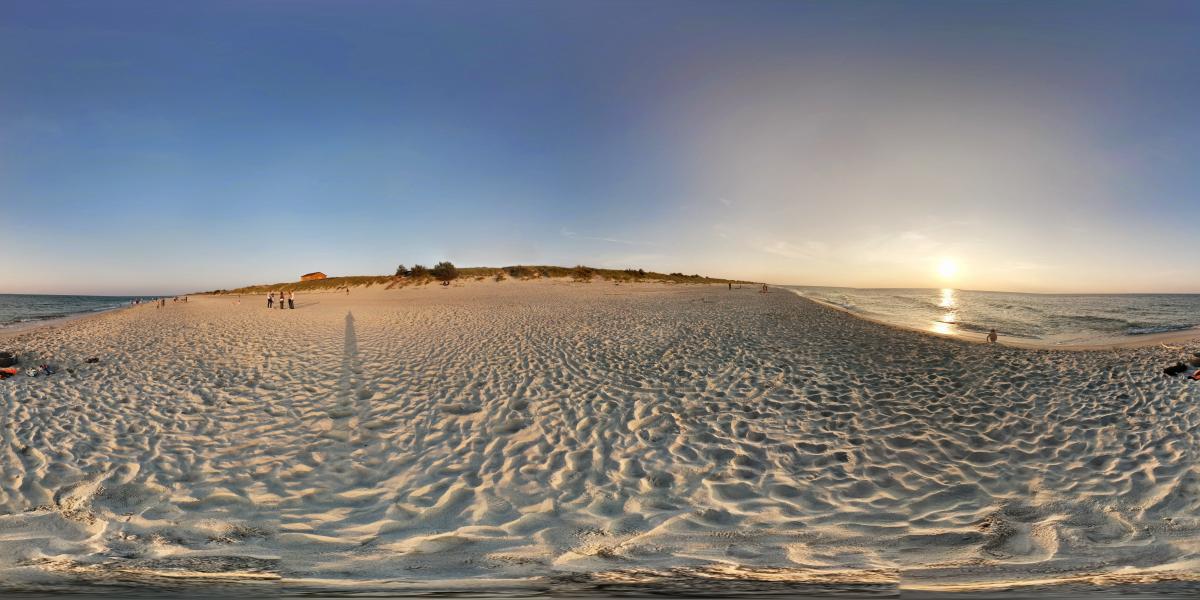 На Куршской косе - Песчаный пляж на Куршской косе