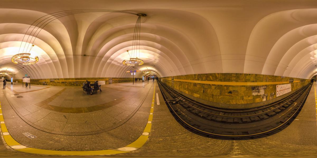 Новочеркасская, метро Санкт-Петербурга - Железнодорожные пути метро