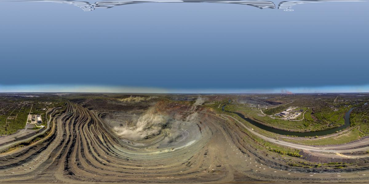 Кривой Рог. Марсианские хроники - Панорама карьера зо взрывом. ЮГОК