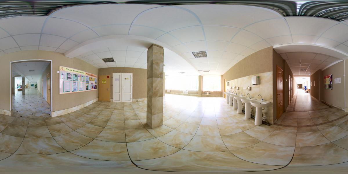 Гимназия №1 г. Лида - 1 этаж - коридор возле спортзала